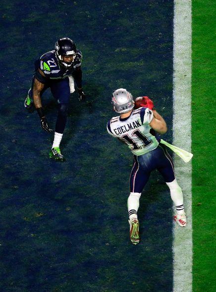 New England Patriots Vs Seattle Seahawks Julian Edelman 11 Of The New England Patriots Catches A Three Yard New England Patriots Patriots Edelman Patriots