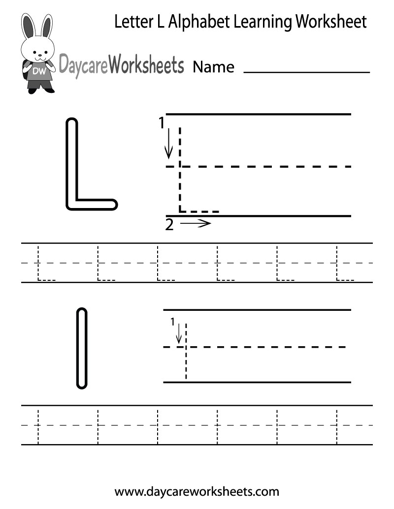 Preschoolers can color in the letter L and then trace it following ...