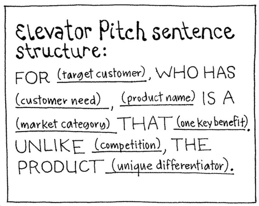 How To The Elevator Pitch Sentence  G R A P H   C O M M