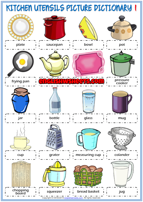 Picture dictionary and classroom poster ESL printable worksheets for ...