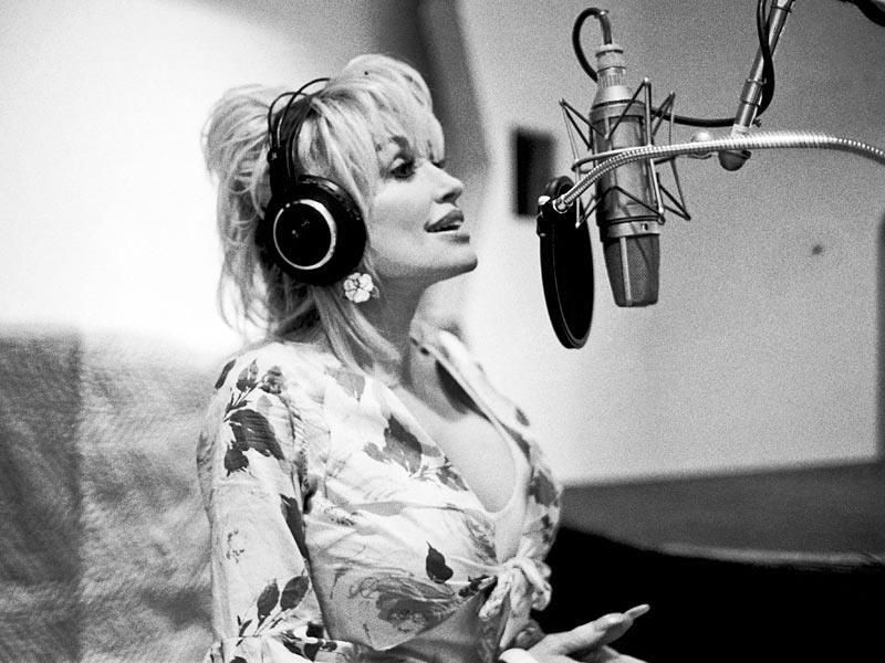 Image result for dolly parton headphones