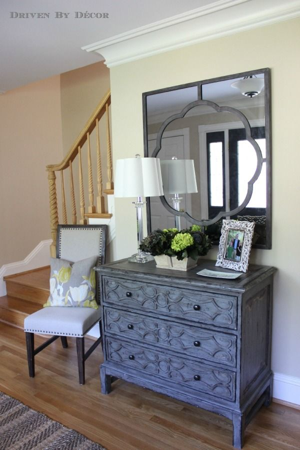 Grand Foyer Mirror : A foyer quot before and after distress wood hooker