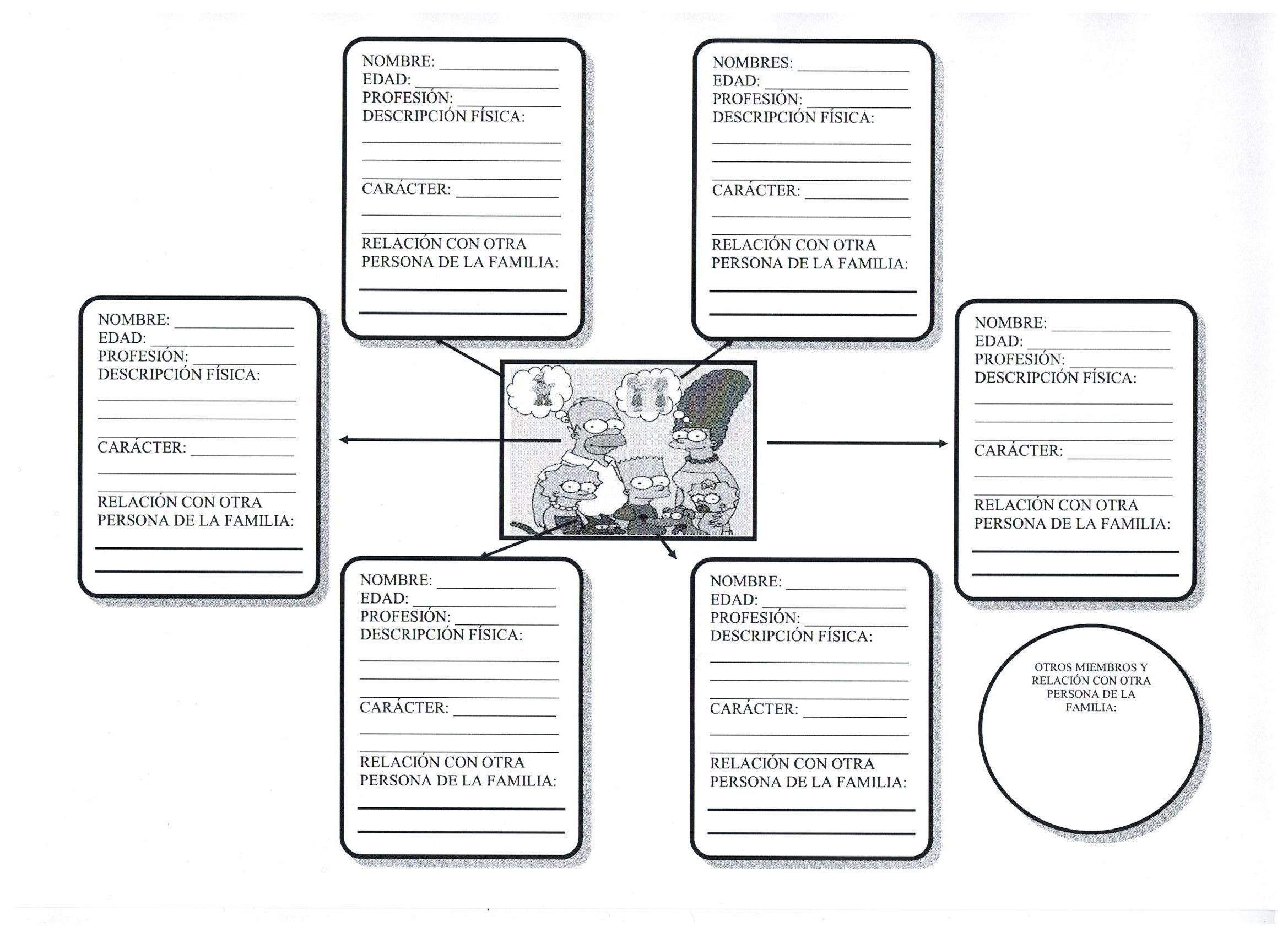 La familia Simpson: ejercicio | Chapter 6 la familia y su casa ...