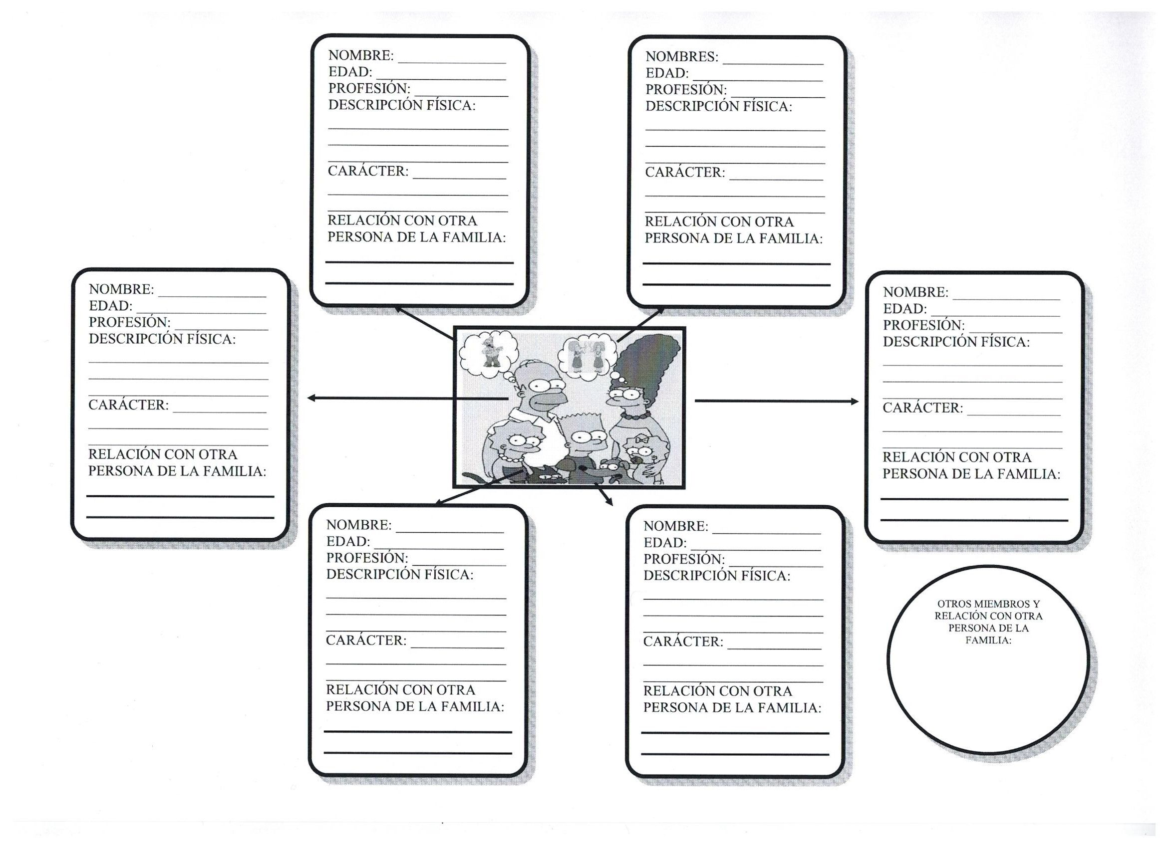 worksheet La Familia Worksheets 17 images about la familia y casa on pinterest cutaway simpson ejercicio