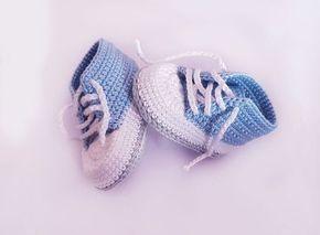 Kostenlose Häkelanleitung Babyschuhe für Neugeborene! #strickanleitungbaby