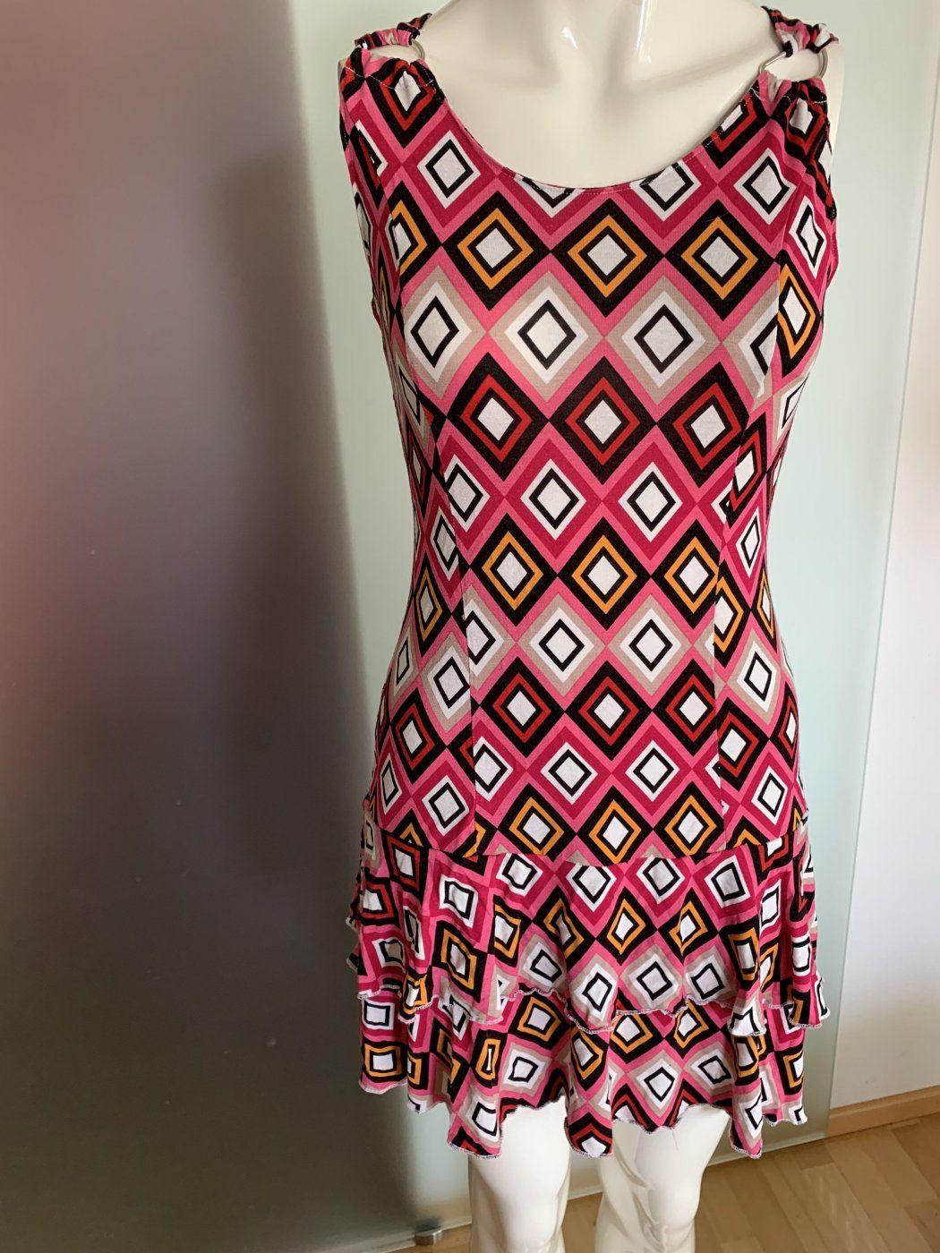 Kleid mit Volant Gr 40 42 L | Mädchenflohmarkt