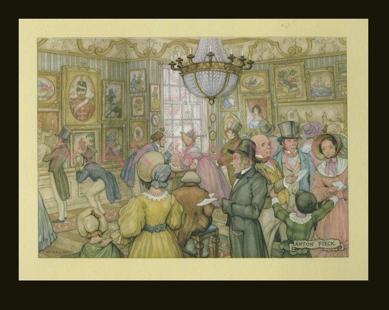 Details about dutch painter anton pieck vintage scenes of holland