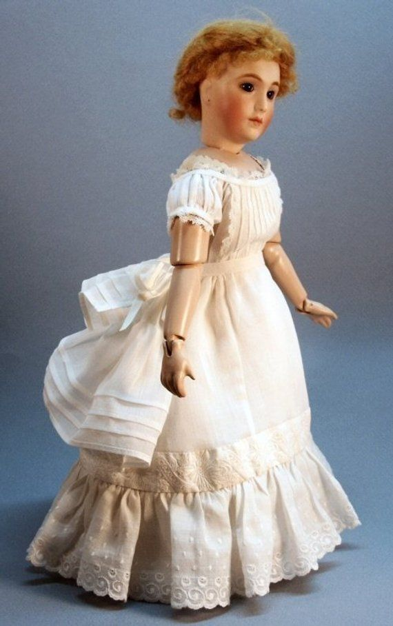 Ca 1870 UNDERCLOTHING SET #3 ~ clothing patterns  for 12 French Fashion dolls ~ fancy set of Pettic #dollunderware