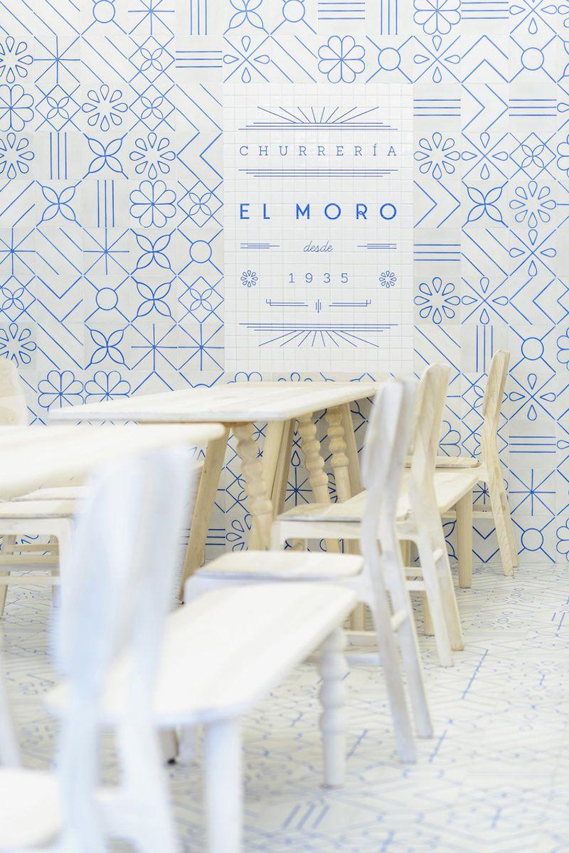 Heavenly white blue churreria el moro mexico city trendland