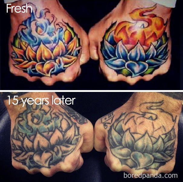 Thinking Of Getting A Tattoo These 35 Pics Reveal How Tattoos Age