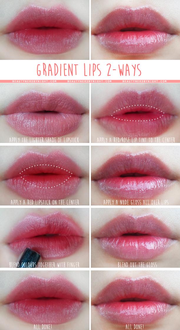 How To: Korean Gradient Lips 2 Ways ⋆ Beauty Nerd By Night