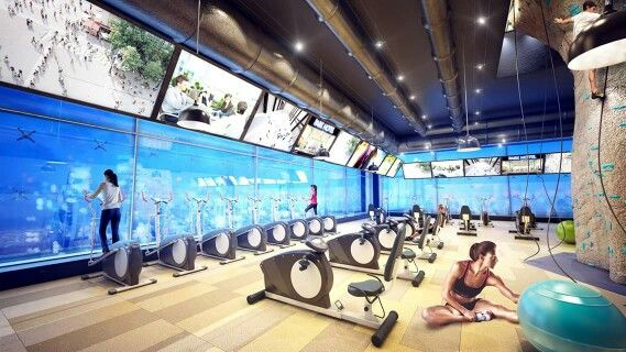 3D concept design of a hotel gym