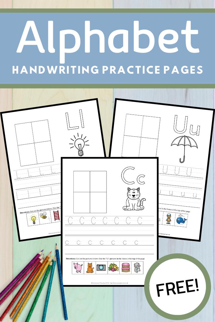 Free Alphabet Preschool Handwriting Worksheets Kids Handwriting Practice Handwriting Practice Preschool Alphabet Preschool [ 1102 x 735 Pixel ]