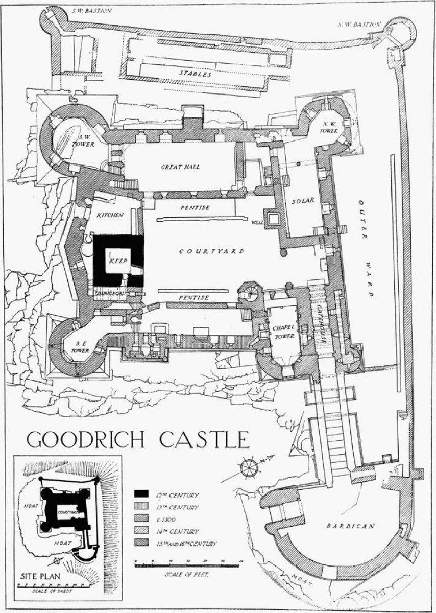 Goodrich Castle Castle Layout Medieval Castle Layout Castle Floor Plan