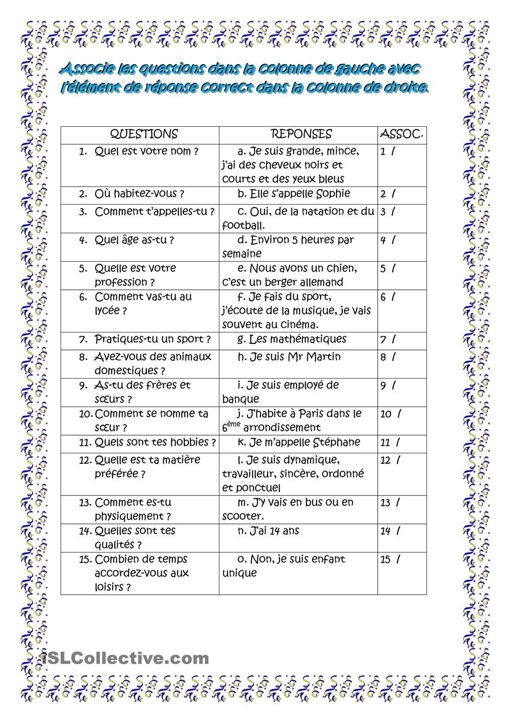 worksheet Plus Que Parfait Worksheet sports and weather here are some questions responses for he french 2 section