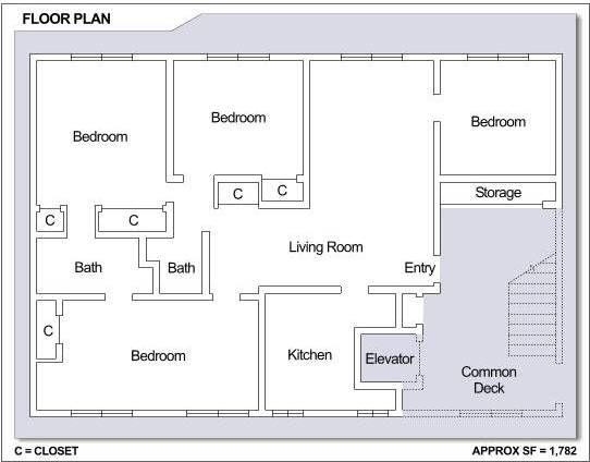 Cfa Sasebo Hario Village Tower 4 Bedroom Apartment Floor Plan