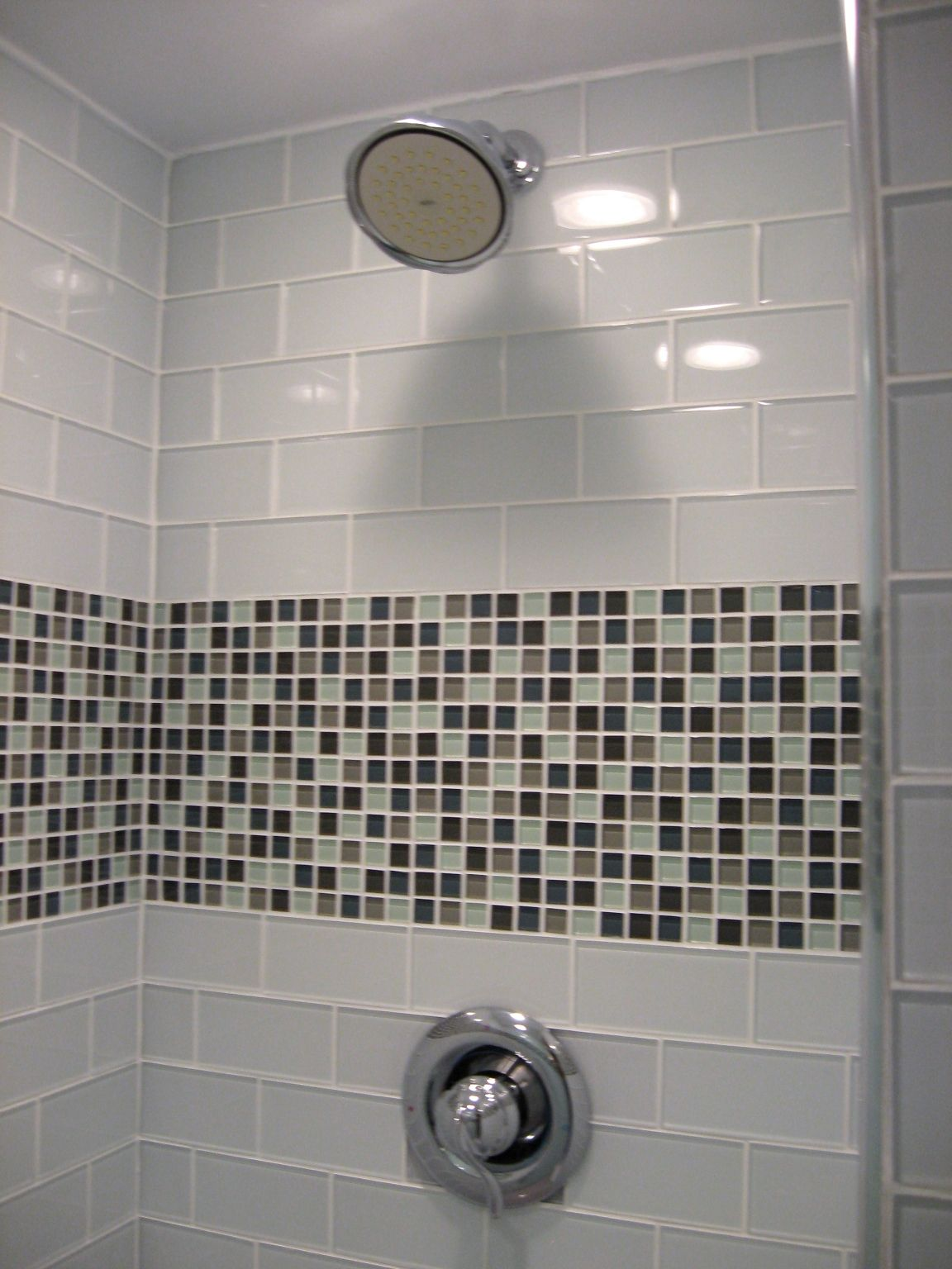 Azulejos Cristal Para Baño Subway Mosaic Mix Not These Colors Tiled Shower Baños