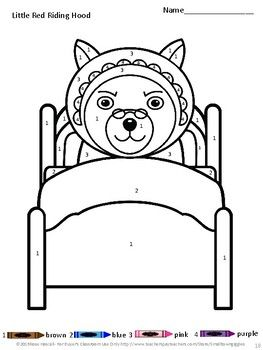Fairy Tales Coloring Pages, Color by Number, Special