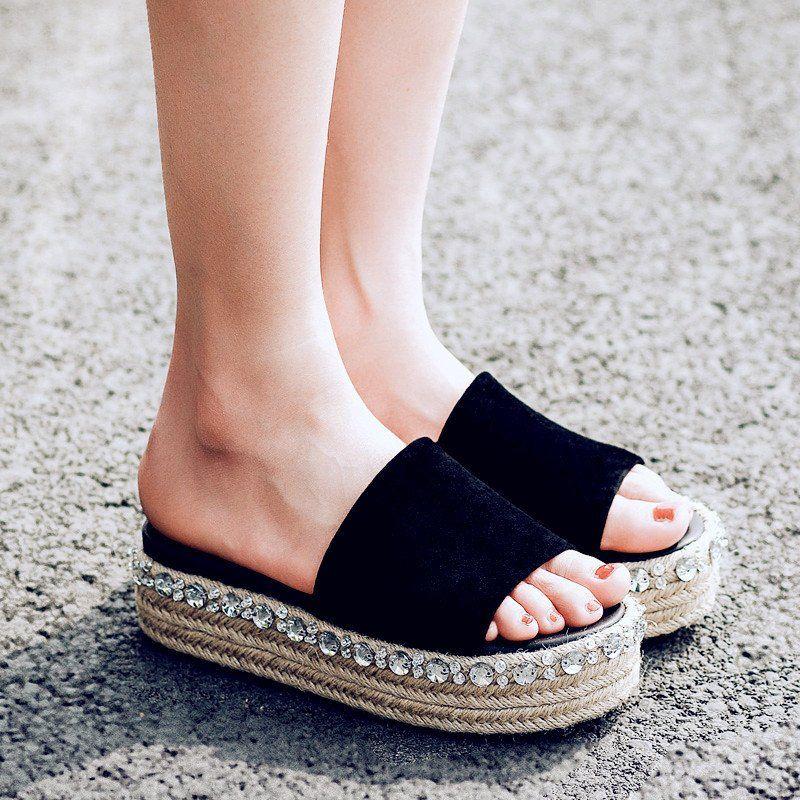 Women Flat SandalsWomen's EVA Lightweight Butterfly-Knot Slides Sandal Beach Wear