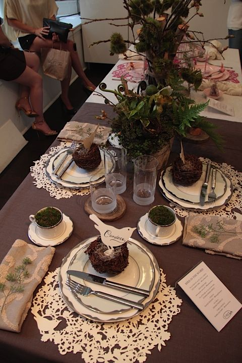 Nature themed tablescape set the table pinterest tablescapes nature themed tablescape woodland weddingwoodland partywedding centerpieceswedding junglespirit Image collections