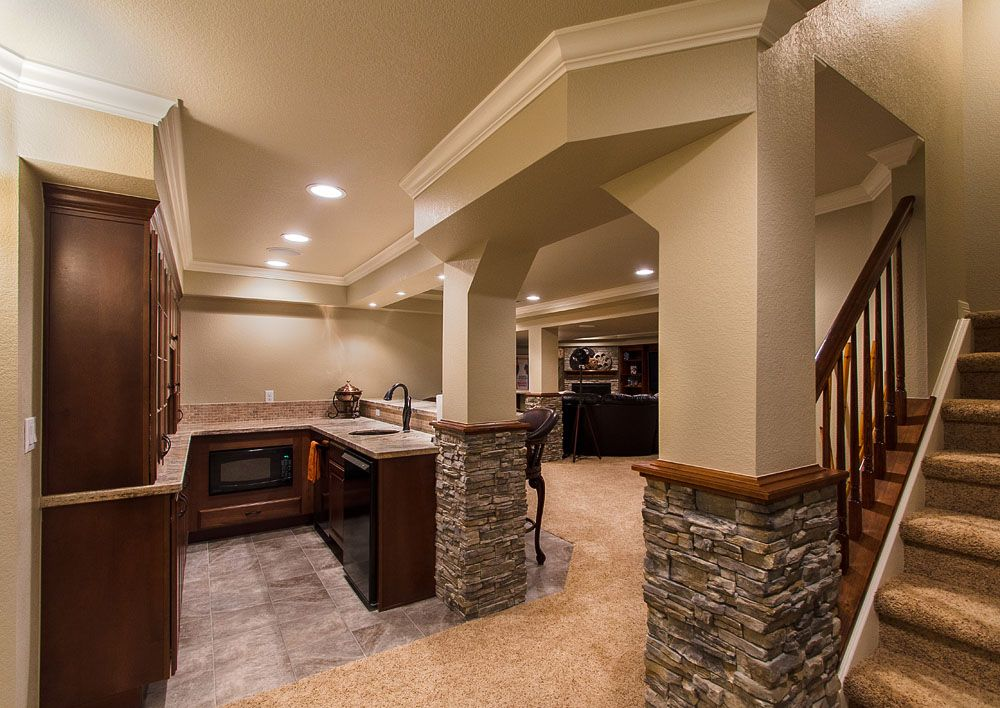 Best 25 basement finishing ideas on pinterest finishing - Home basement bar ideas ...
