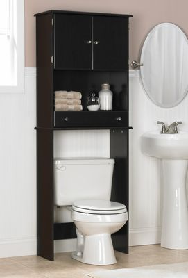 over the toilet spacesaver cabinet in espresso click to enlarge rh pinterest com