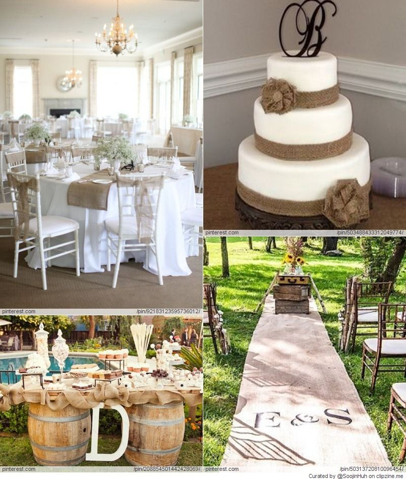 Burlap Craft Ideas For Weddings