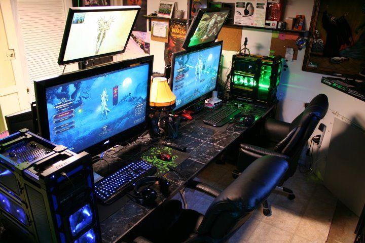 gaming id e d co chambre pinterest salle de jeux. Black Bedroom Furniture Sets. Home Design Ideas
