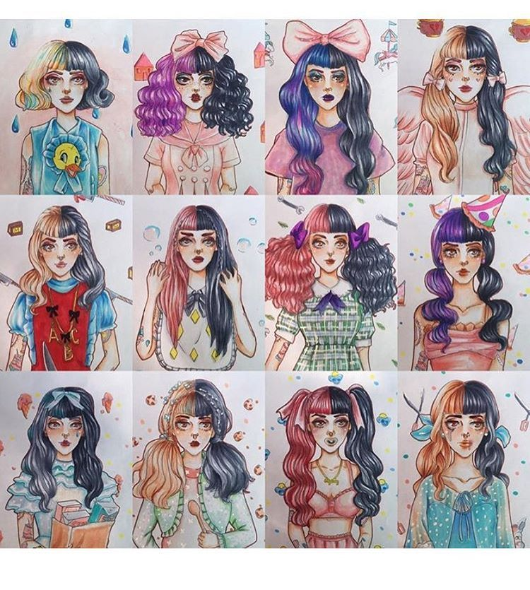 5 958 Likes 96 Comments Art By Little Bows Crybabies Melaniemartinezfanart On Instagr Melanie Martinez Drawings Melanie Martinez Anime Melanie Martinez
