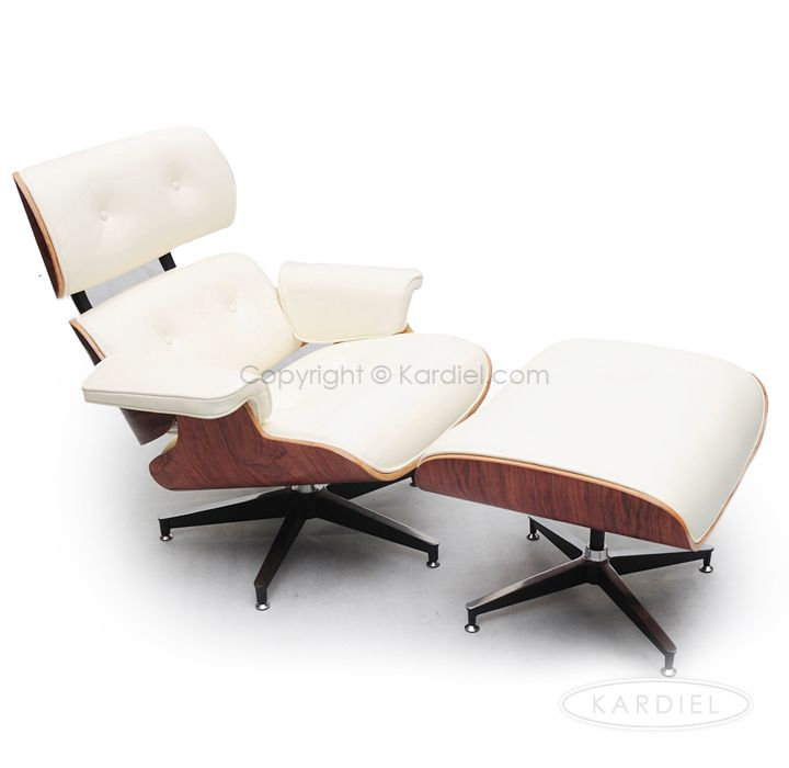 The Budget Friendly Version   Plywood Lounge Chair U0026 Ottoman, Pure White  Standard Leather/