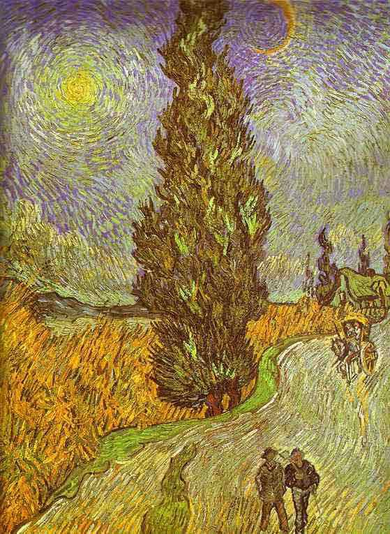 Van Gogh Carretera Con Cipreses Arte Kandinsky Obras De Arte Arte
