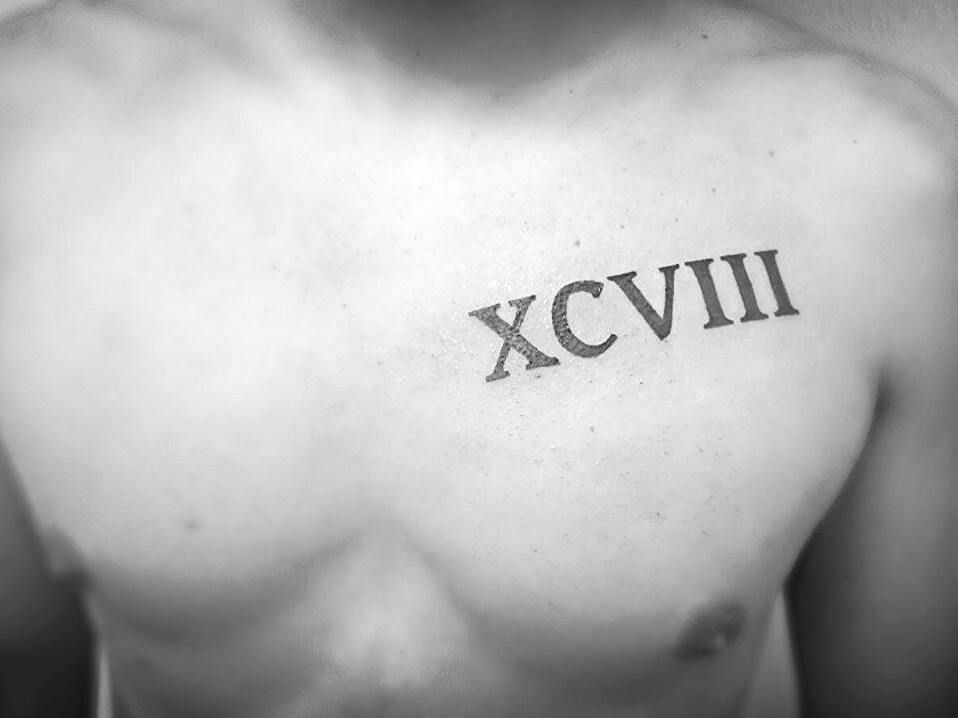 98 In Roman Numerals 98 In Roman Numerals I Tattoo Tattoos And Piercings