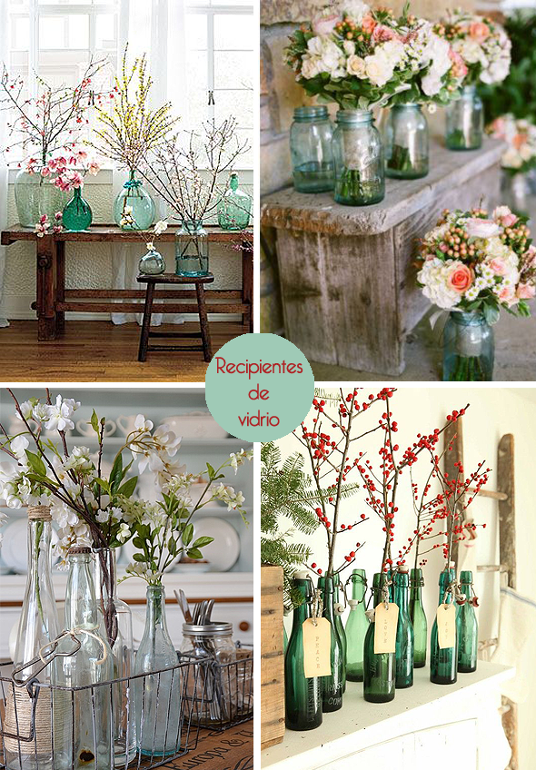 Botellas de vidrio decorativas via miblog home sweet for Adornos con botellas para plantas
