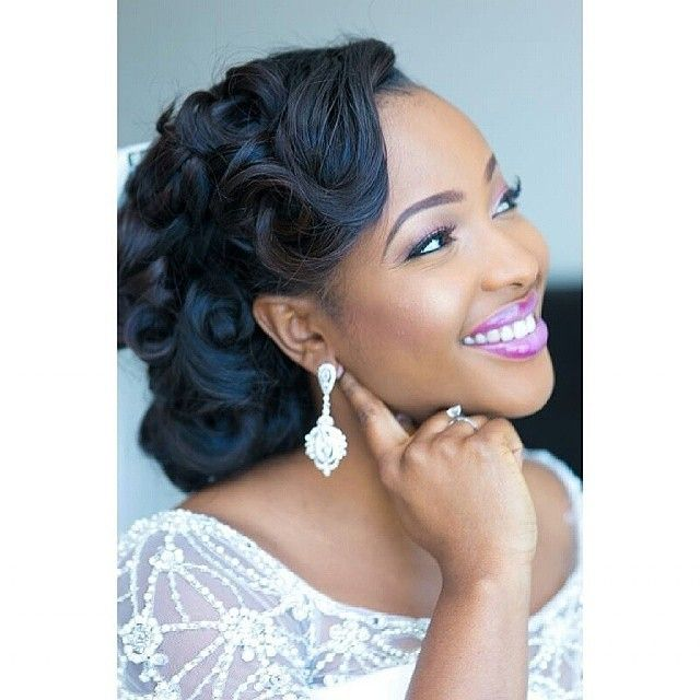 Black Wedding Hairstyles best wedding short hairstyle with bangs for black women Httpss Media Cache Ak0pinimgcomoriginals2a