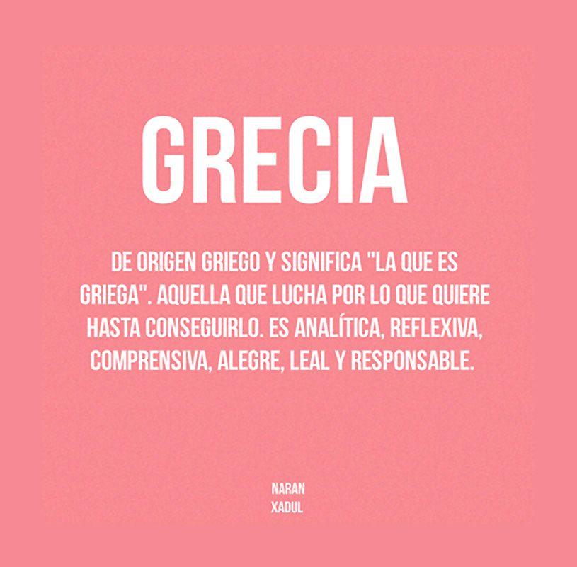 Nombre Grecia Significados De Los Nombres Nombres De Niñas Lista De Nombres Para Bebés