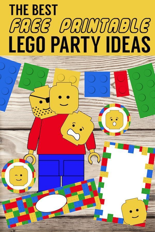 Best Lego Birthday Party Ideas {Free Printables}. Lego decorations, games, and a…