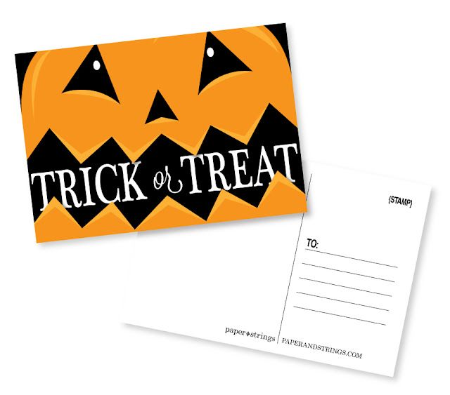 Free Printable Halloween Postcard Printable Postcards Halloween Printables Halloween Crafts