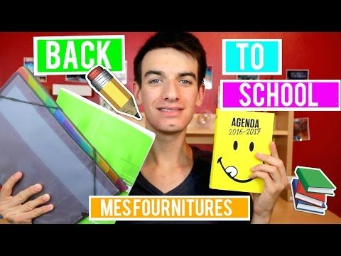 BACK TO SCHOOL : MES FOURNITURES SCOLAIRES 2016 - YouTube