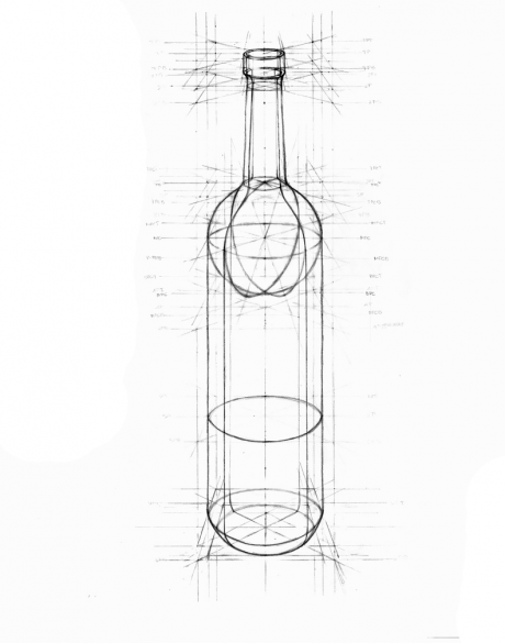 Wine Design Wine Glass Drawing Bottle Drawing Geometric Shapes Art