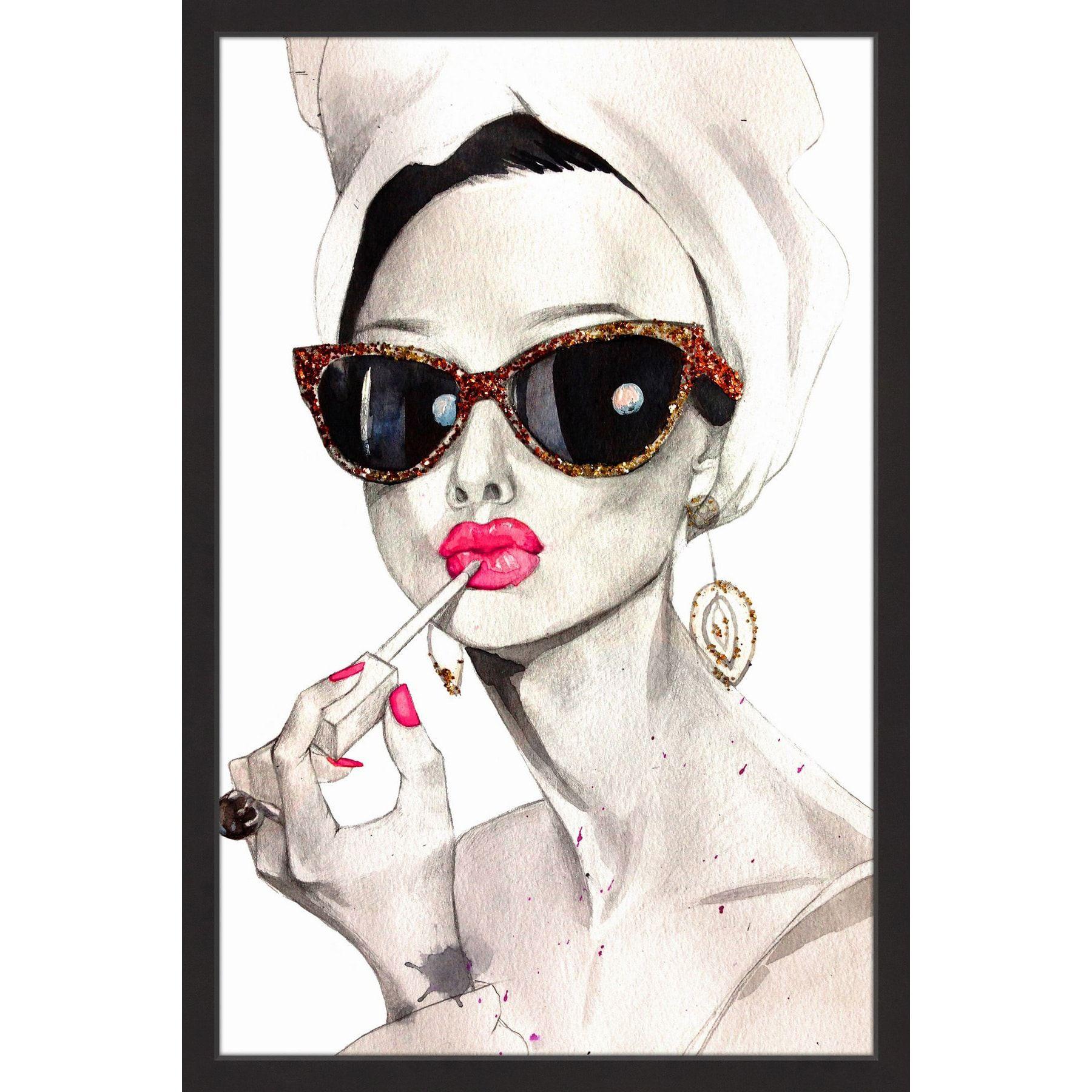 338a6077d78a3  Audrey Hepburn  Framed Painting Print (12 x 18)