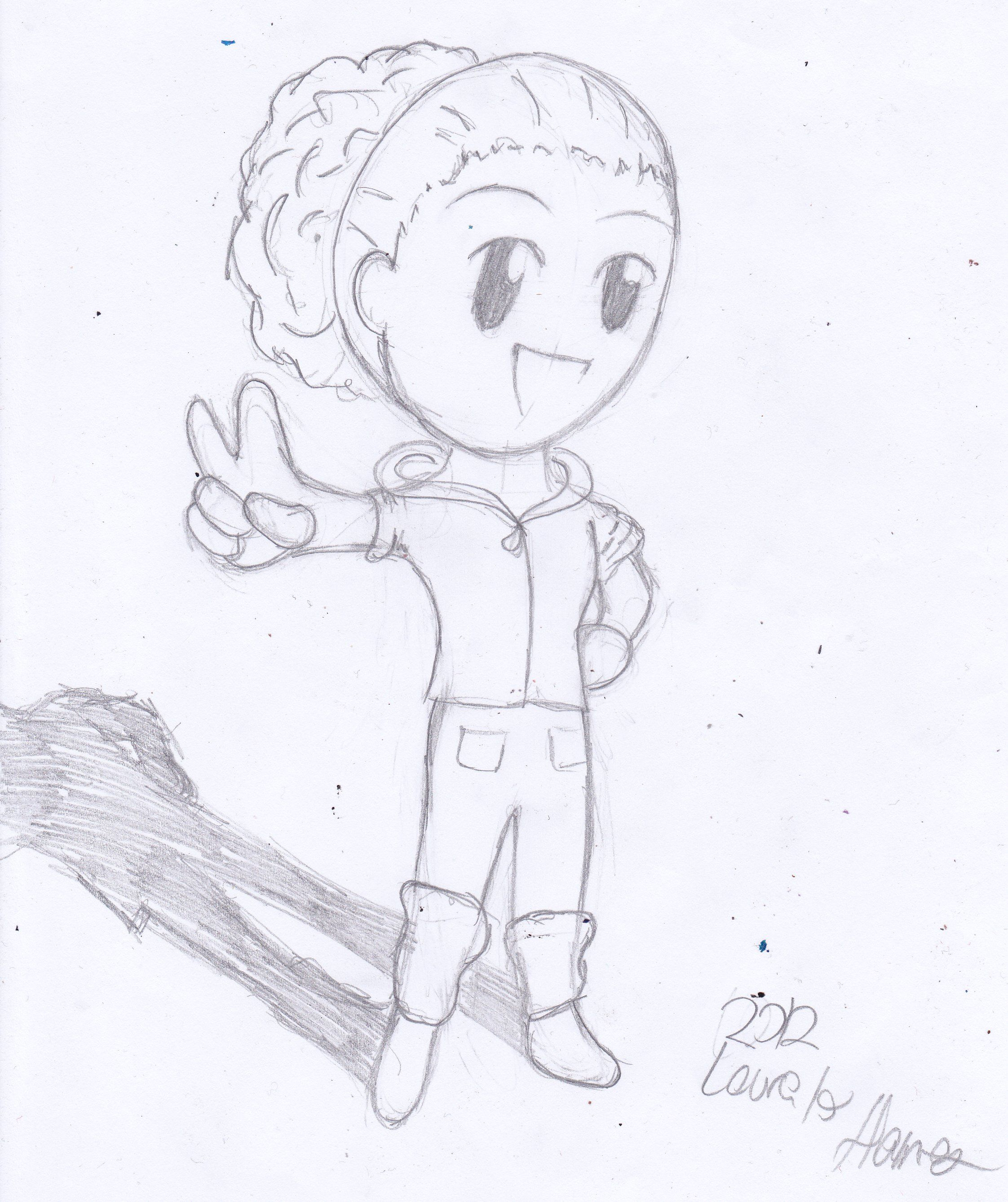 A chibi I drew of one of my friends