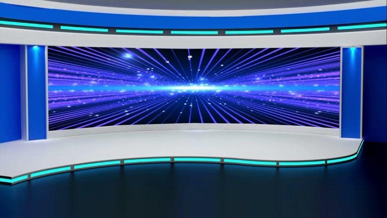 TV Studio Background - Virtual Studio, Newsroom Background ...
