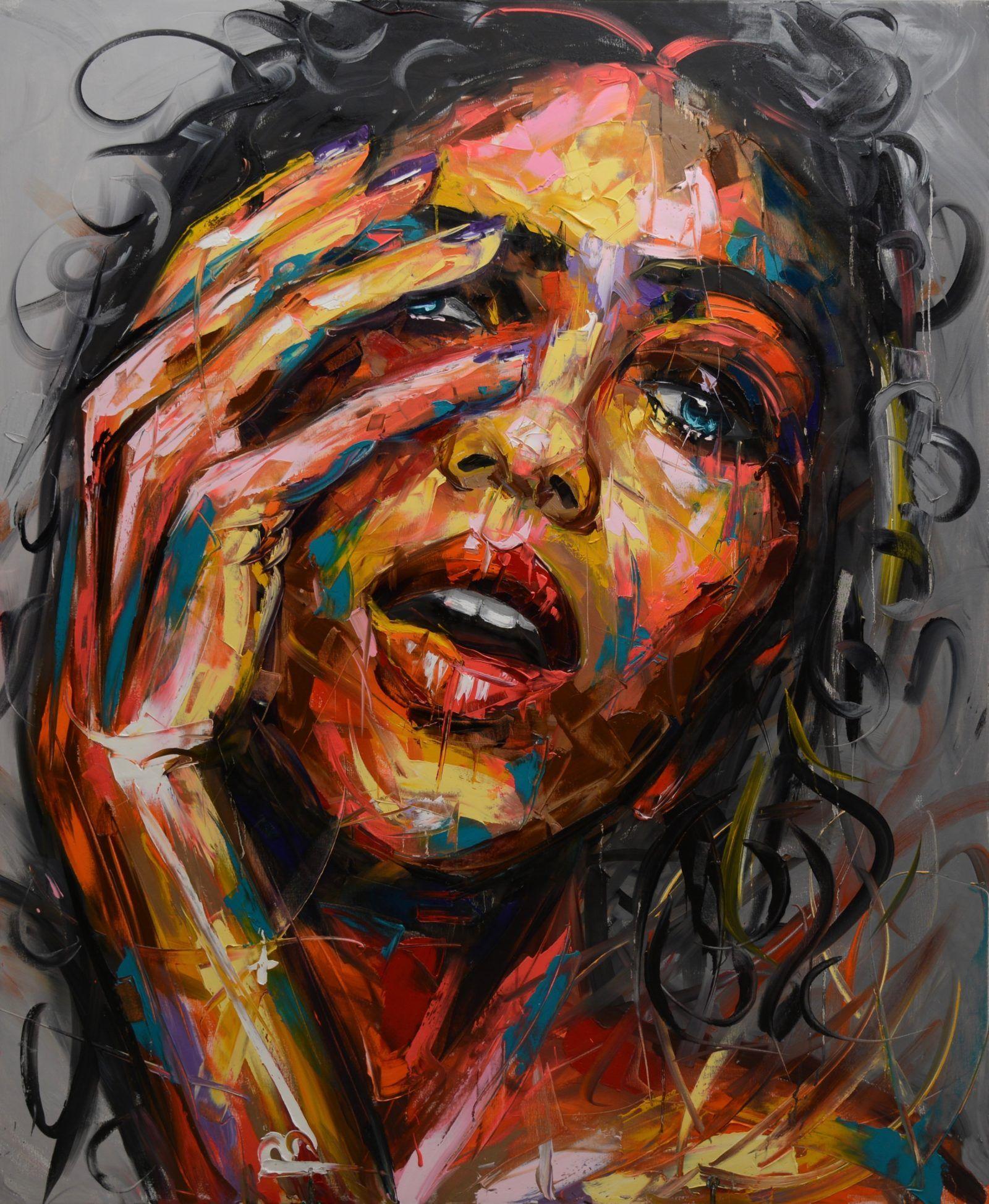 Faces vii vassilis antonakos art portraiture painting