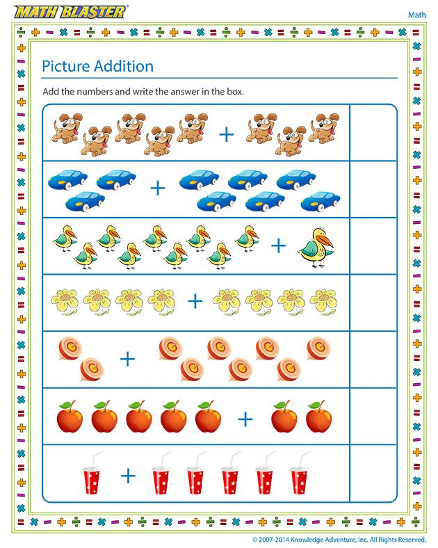 Picture Addition Free Addition Worksheets For Kindergarteners Addition Worksheets Kindergarten Addition Worksheets Printable Math Worksheets