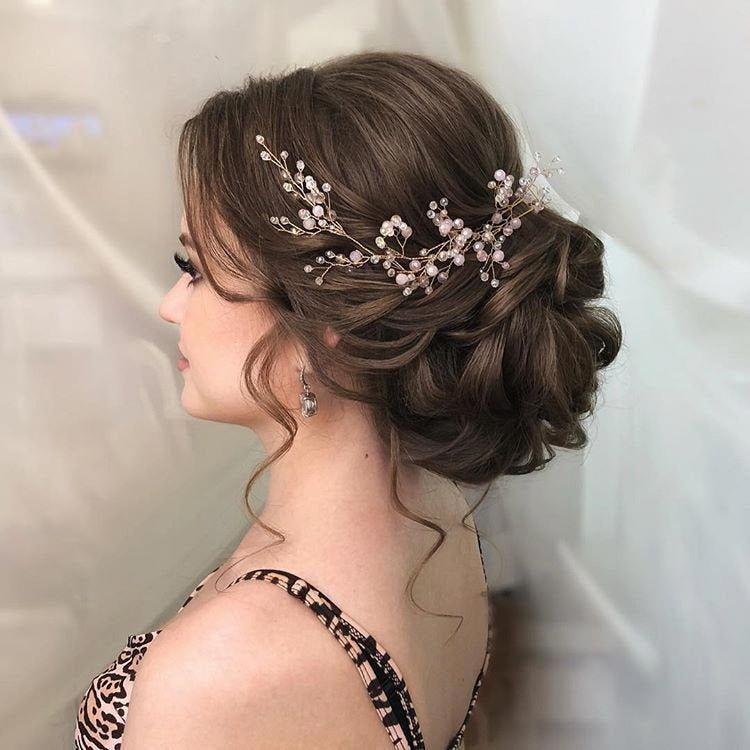 Gorgeous Floarl Pearl Vine Bridal Floral Headband Hair Accessories Long Hairs B