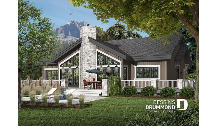 Decouvrez Le Plan 3942 La Sivoliere Qui Vous Plaira Pour Ses 4 Chambres Et Son Style En Montagne Lake House Plans Drummond House Plans Lakefront Homes