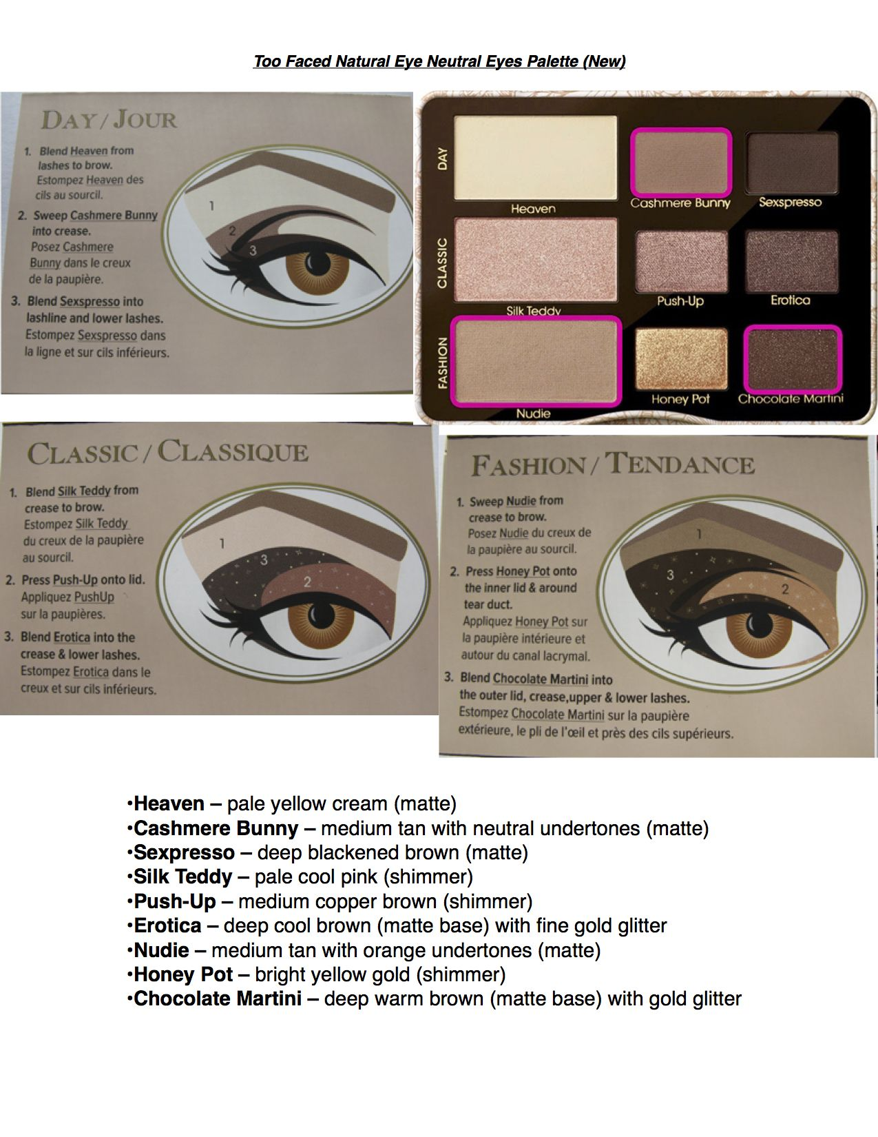 Too Faced Natural Eyes Palette New Company Print Makeup