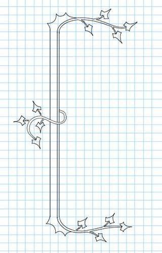 Como desenhar suas próprias fronteiras - como os manuscritos iluminados de antigamente.