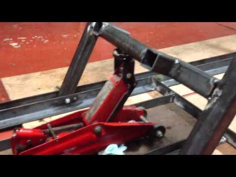 Brilliant Motorcycle Work Bench Lift Part 3 Youtube Motorcycle Dailytribune Chair Design For Home Dailytribuneorg