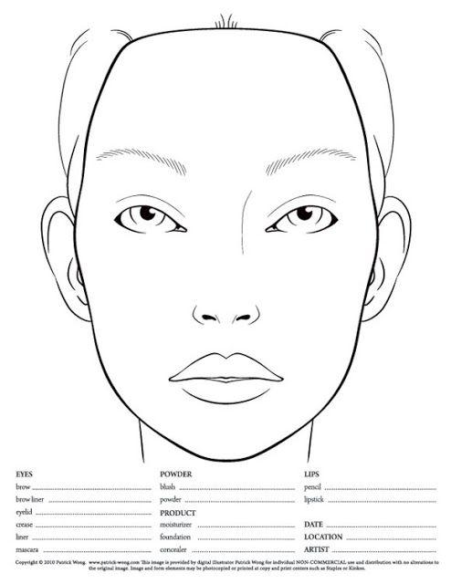 Pdf Various Blank Charts Face Template Makeup